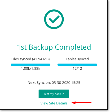 backup before creating a wordpress staging environment