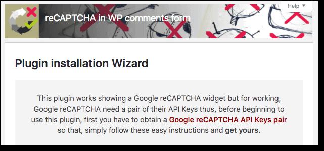 Activating reCAPTCHA in WP comments form plugin