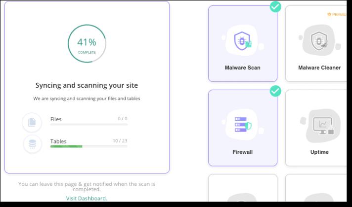 Malware Scanning in Progress