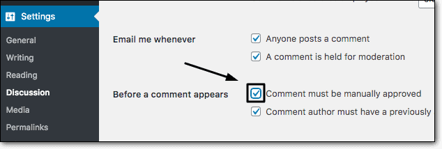 Turn on Comment Moderation