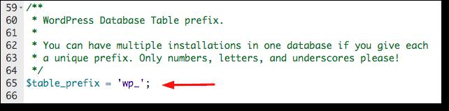 change database prefix wpconfig
