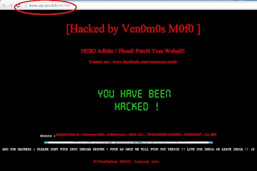 Website defacement attack