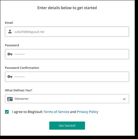 blogvault registration form