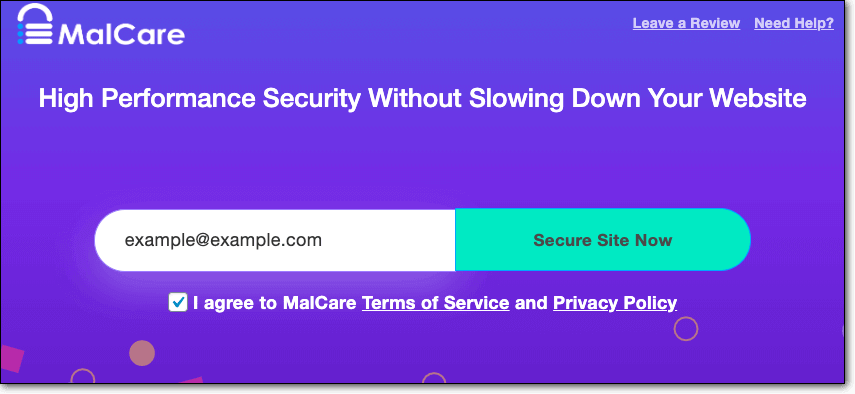malcare signup