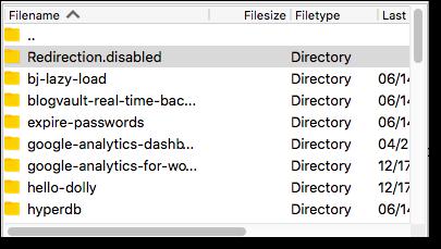 disabling plugin filezilla