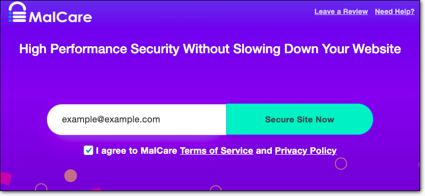 malcare secure site now