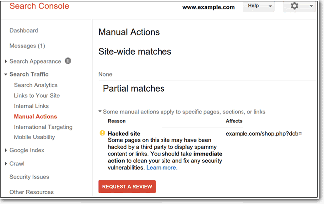 console manual actions