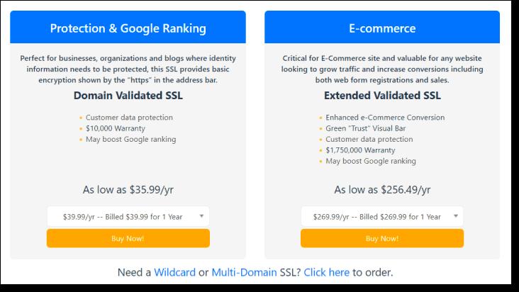 hostgator ssl certificate pricing