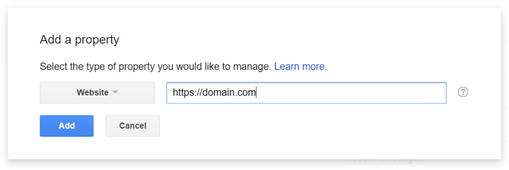 Adding https version of wordpress site in google search console property