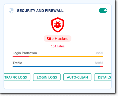 Malcare security and firewall to remove Japanese keyword hack