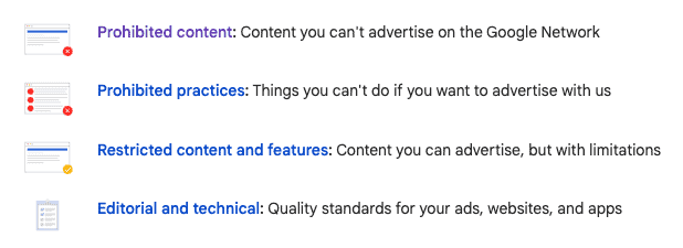Google ads policies